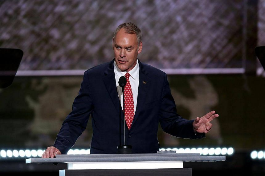 Representative Ryan Zinke,  seen at the Republican National Convention in Cleveland, has been tapped to be interior secretary.