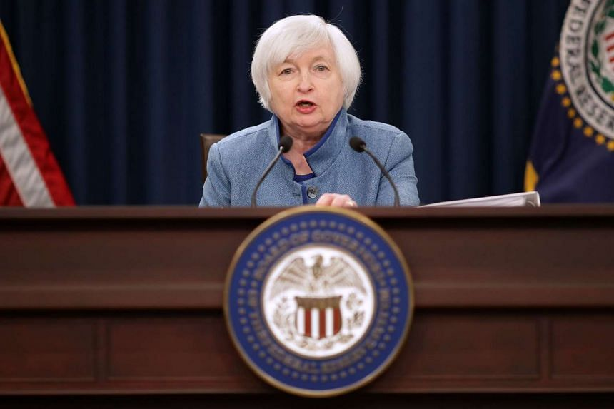 Federal Reserve chairman Janet Yellen speaking at a news conference on Dec 14, 2016.