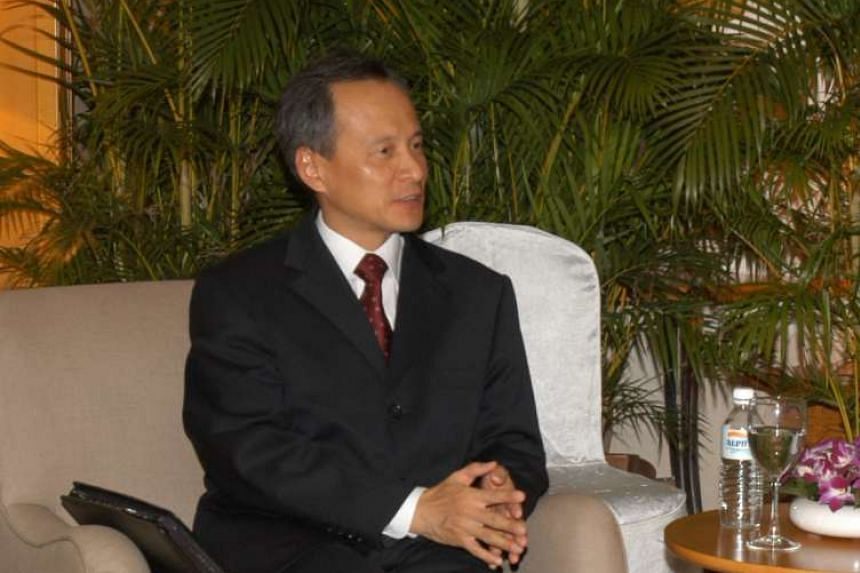 Ambassador Cui Tiankai, pictured here during a visit to Singapore in 2005, said Beijing and Washington needed to work to strengthen their relationship.