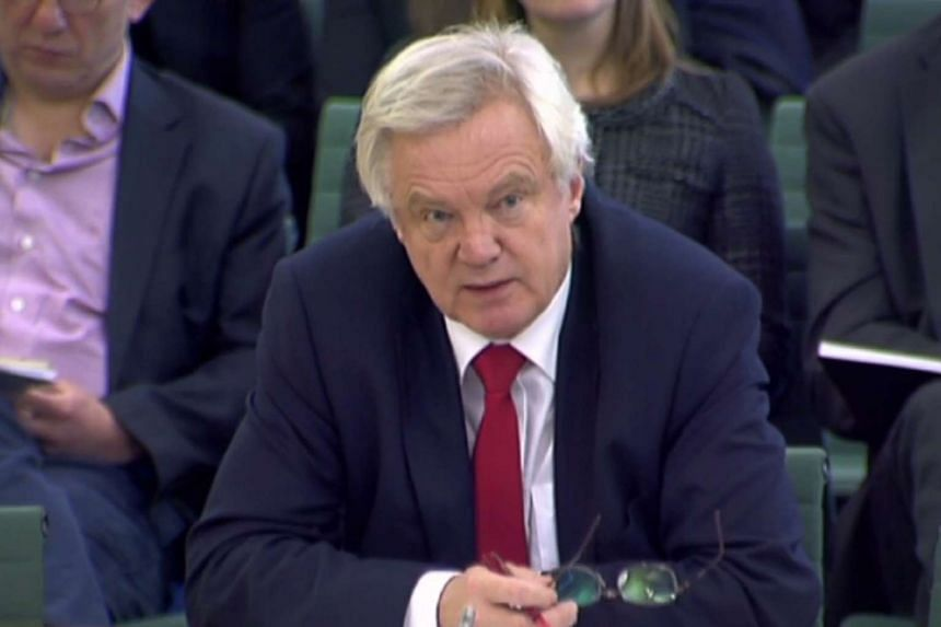 A video grab from footage broadcast by the UK Parliament's Parliamentary Recording Unit shows British Secretary of State for Exiting the European Union (Brexit Minister) David Davis as he speaks at a Parliamentary Committee in central London on Dec 1