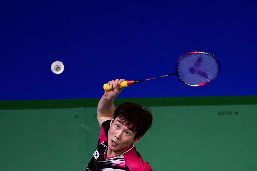 World No. 1 Lee Chong Wei of Malaysia was beaten 21-10, 21-16 by South Korea's world No. 6 Son Wan Ho (above) in a Group B match.