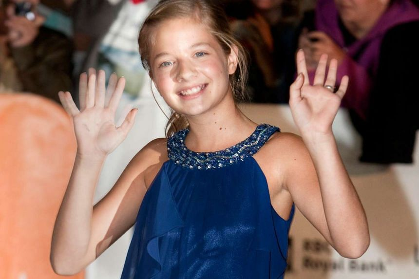 Jackie Evancho arrives at the gala presentation for the film 'The Company You Keep' during the 37th Toronto International Film Festival, on Sept 9, 2012.