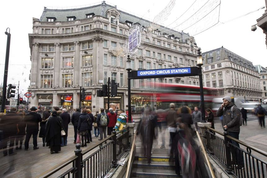 Pedestrians and shoppers at Oxford Street, London, on Dec 12, 2016.