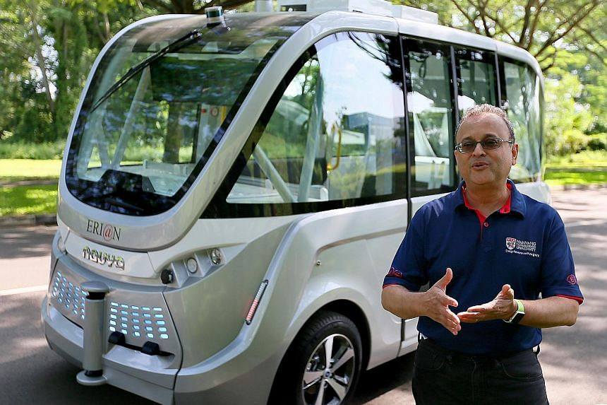 The shuttle will be tested out in different scenarios and will be programmed to run on a fixed route, said ERI@N executive director Subodh Mhaisalkar.