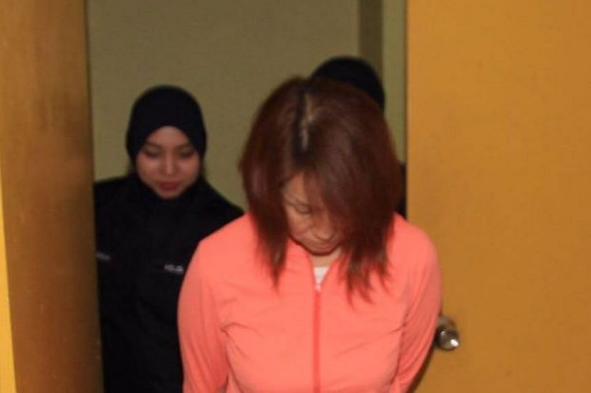 Tan Yeoh Foong walking out of the court room after she was fined for the offence in Johor Baru.