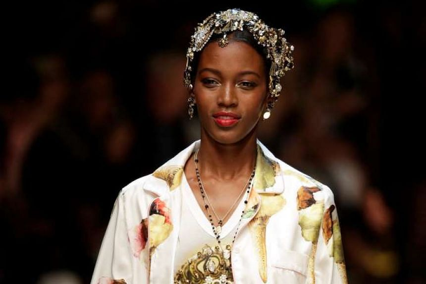 Designers Stefano Gabbana and Domenico Dolce are leading proponents of pyjamas as streetwear, as seen at their September show in Milan.