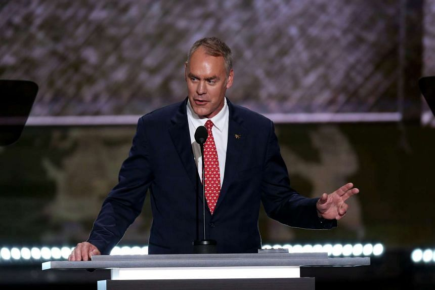 Rep. Ryan Zinke, seen at the Republican National Convention in Cleveland on July 18, has been tapped to be interior secretary.
