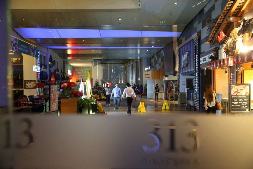 A view inside the mall after the fire at 313@Somerset.