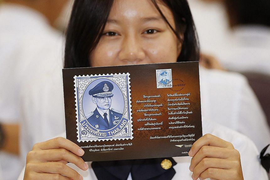 The free commemorative postcards with a stamp of the late Thai king will be issued to the public before Jan 20.