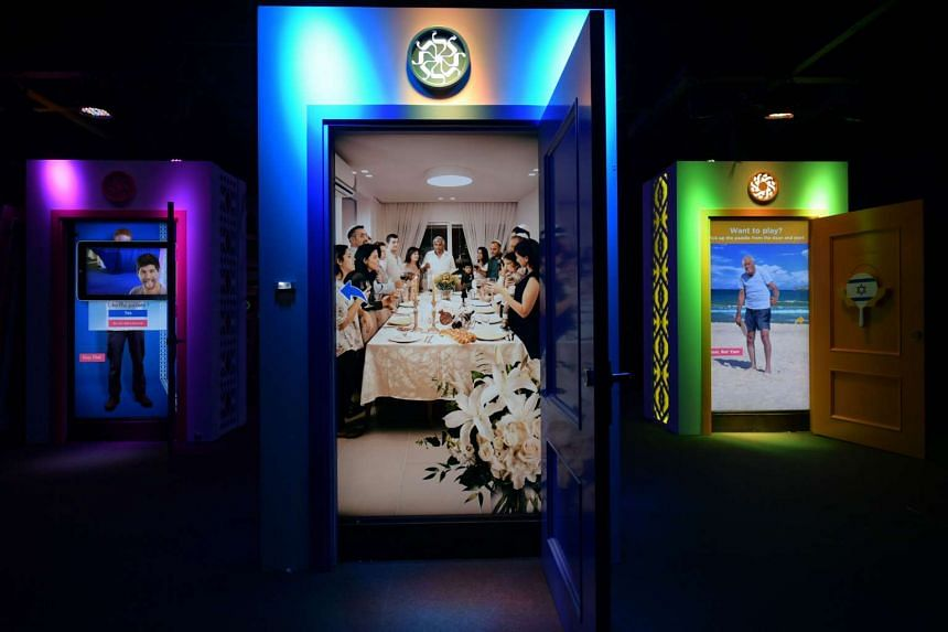 Open A Door To Israel is a multi-sensory installation that offers glimpses into various aspects of Israeli society.