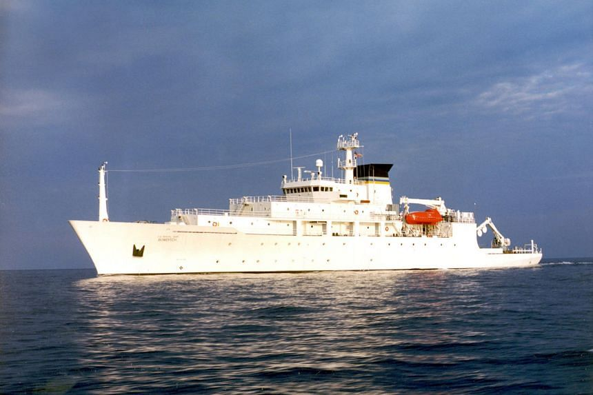 The oceanographic survey ship, USNS Bowditch, which deployed an underwater drone seized by a Chinese Navy warship in international waters in the South China Sea.