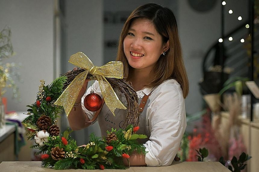 Keep the marzipan snow globe in a cool area. Ms Dawn Quek is the florist- owner of Dawn Q. Floral Design.