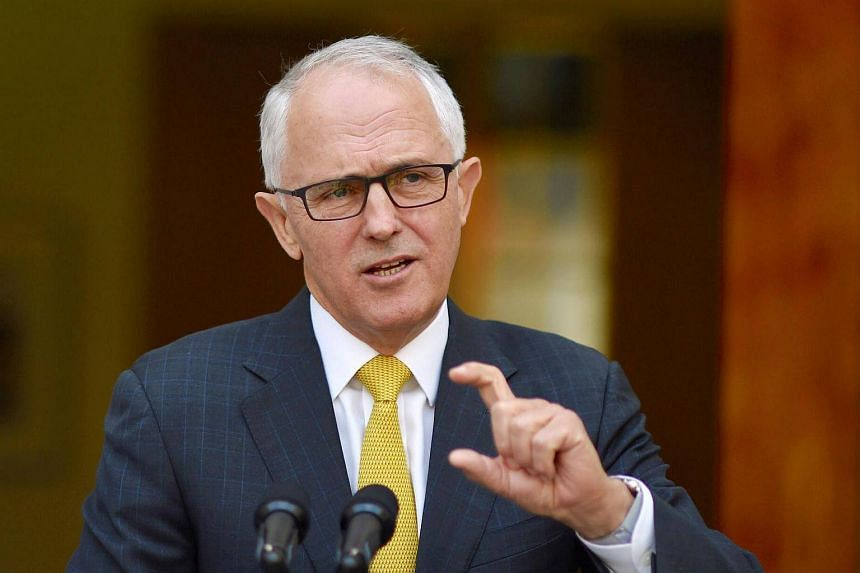 Australian Prime Minister Malcolm Turnbull reacts as he answers questions during a media conference in Parliament House, Canberra, Australia on Nov 22, 2016.