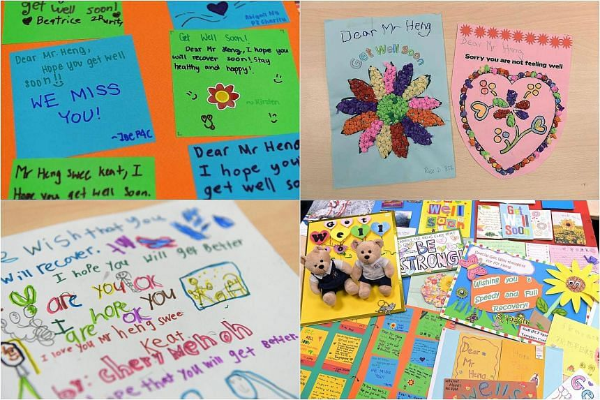 The many cards that well-wishers sent to Mr Heng played a significant part in his recovery.