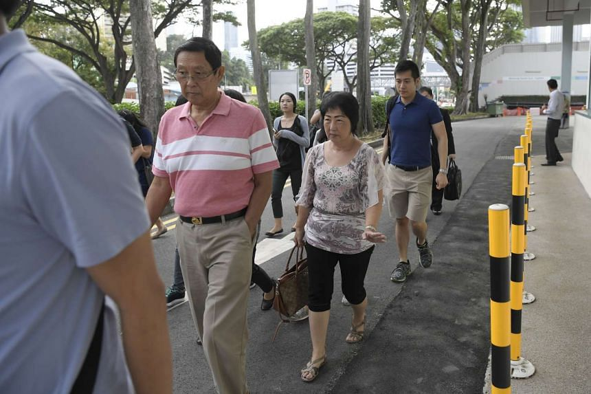 Jackie Liong's family leaving the mortuary on Dec 20, 2016.