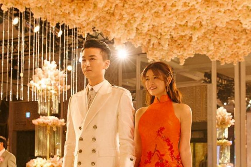 Taiwanese movie and television star Michelle Chen give birth on Dec 20, 2016, five months after she married her Chinese co-star Chen Xiao.