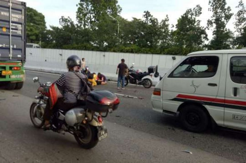 The Singapore Civil Defence Force (SCDF) was alerted to the accident at about 8.05am.