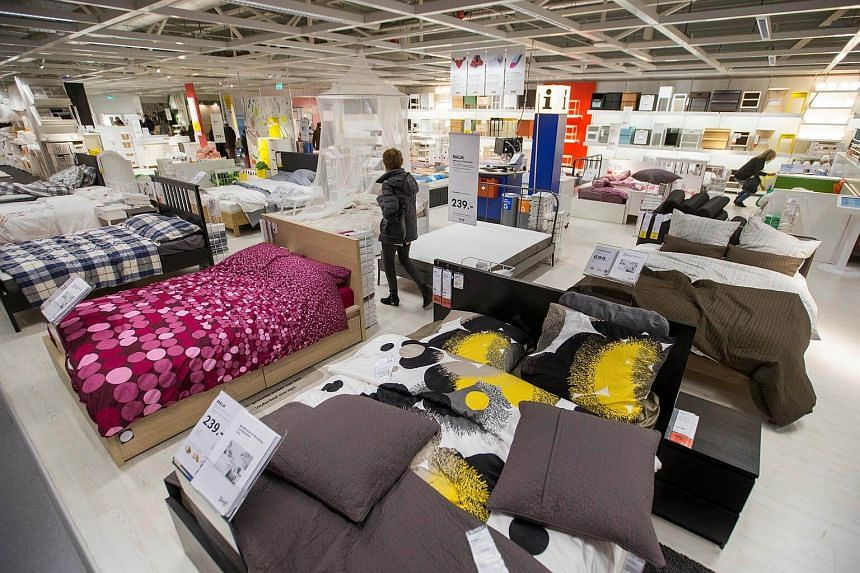 A customer is seen inside the Ikea Concept Centre, in Delft, the Netherlands.
