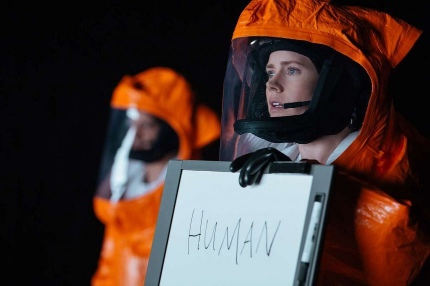 Five-time Oscar nominee Amy Adams plays linguistics expert Dr Louise Banks in Arrival.