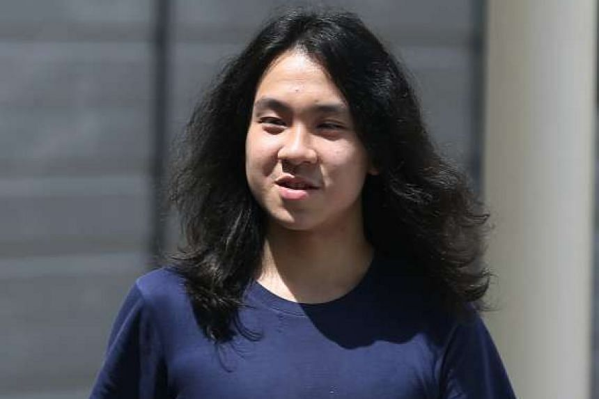 Teenage blogger Amos Yee leaving the State Courts on Sept 29, 2016. He has been detained in the US over immigration-related matters.