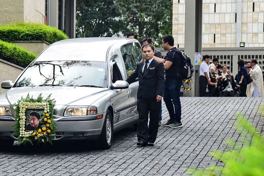 About 100 of his friends and family members attended the funeral service of Mr Jackie Liong Kuo Hwa at the Church of St Mary of the Angels in Bukit Batok on Friday (Dec 23) morning.
