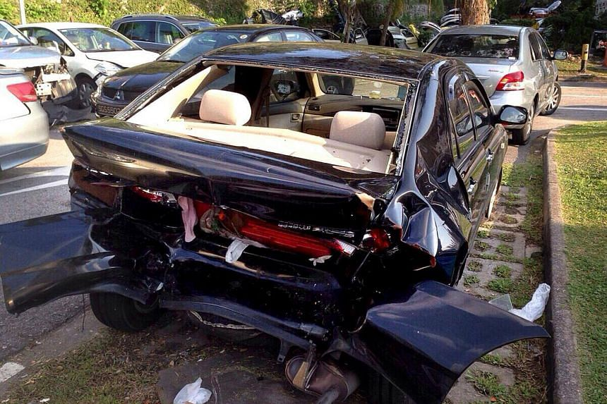 Lai Kum Tai, 40, tailgated and hit the Toyota Altis the boy was in on the Seletar Expressway (SLE) on June 11, 2014.