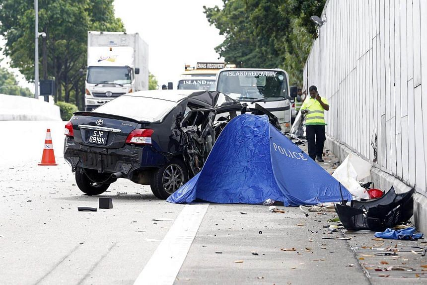 Victim Jackie Liong Kuo Hwa's Toyota Vios slammed head on into the Mercedes-Benz that was travelling against the flow of traffic.