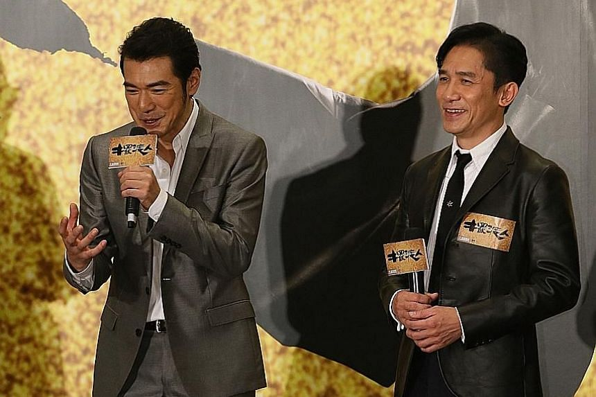 Takeshi Kaneshiro (left) and Tony Leung Chiu Wai play bar owners in See You Tomorrow.
