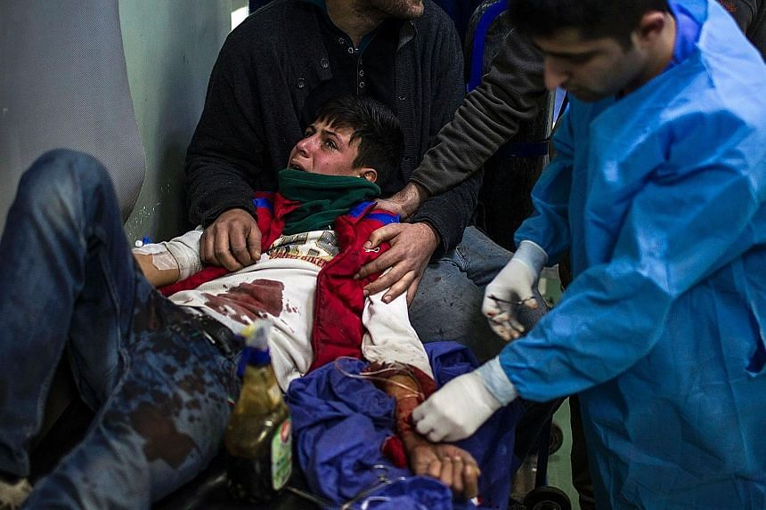 One of the victims of the suicide bomb attack near Mosul on Thursday. ISIS claimed responsibility for the attack.