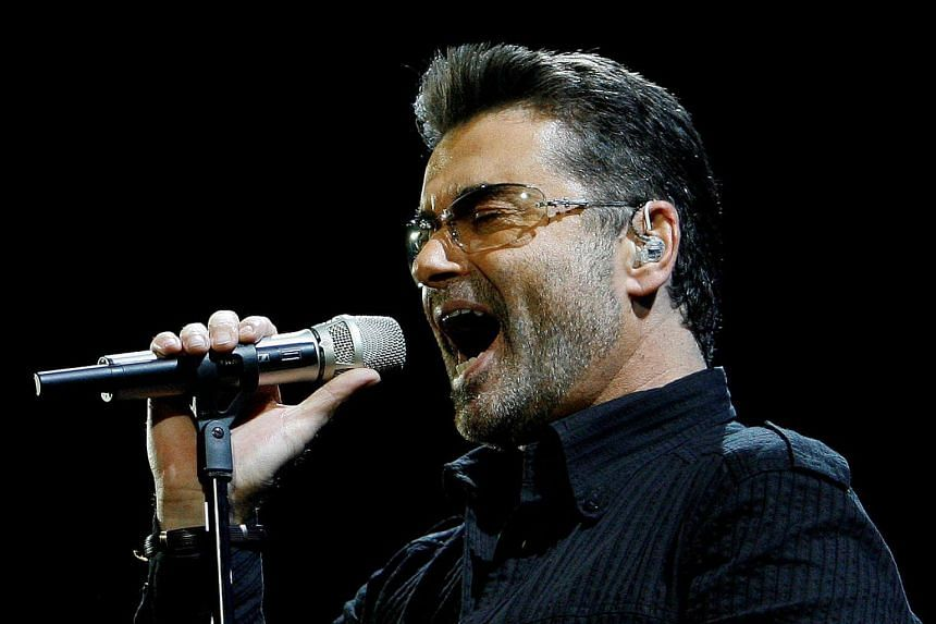 George Michael performing at a concert at the Forum during his Live Global Tour in Inglewood, California on June 25, 2008.