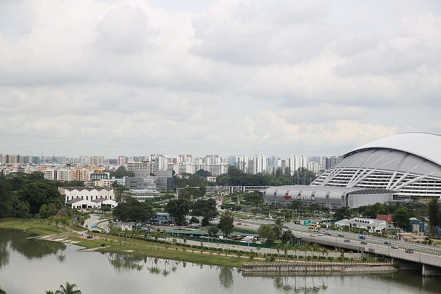 Although there have been calls for more amenities at Kallang Riverside Park (above), four of the five people The Straits Times spoke to said they would rather leave the park as it is.