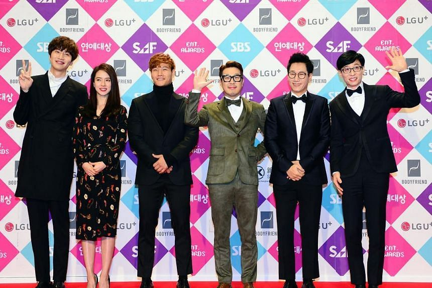 All six cast members at the SBS Entertainment Awards on Sunday.