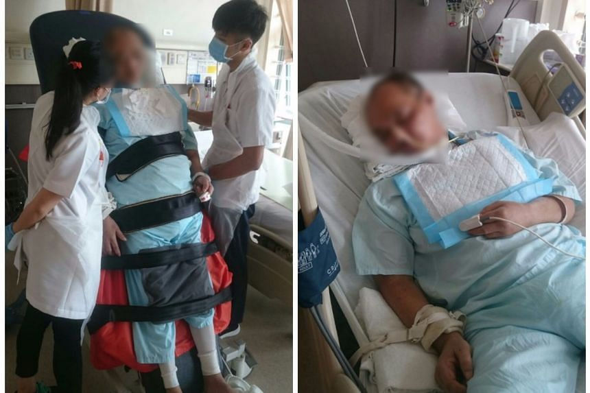 Mr Lim Chwee Leong has since been transferred to a general ward at Tan Tock Seng Hospital, after going through a tracheostomy and two operations to his brain.