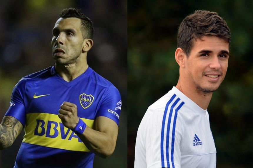 The Chinese Super League now boasts two of the world's highest paid footballers in Carlos Tevez (left) and Oscar.