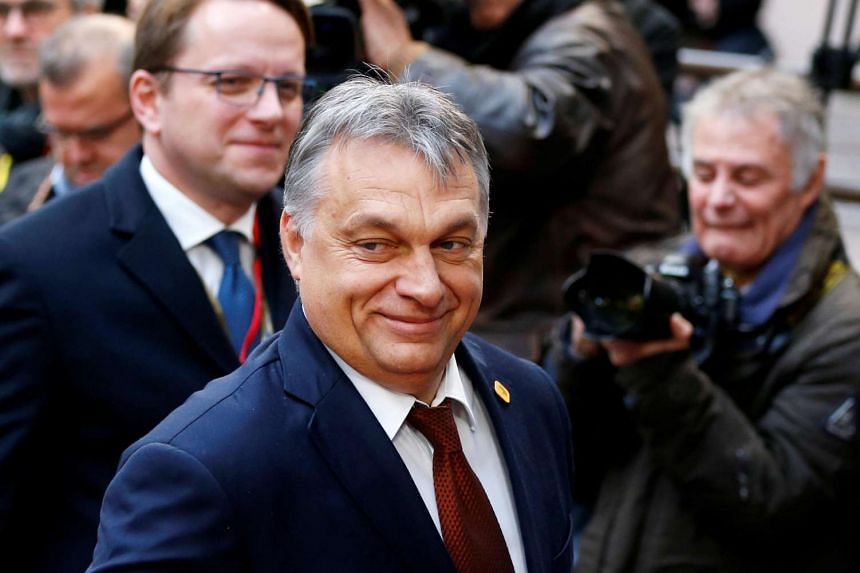 Hungary's Prime Minister Viktor Orban arriving at a European Union leaders summit in Brussels, Belgium, on Dec 15, 2016.