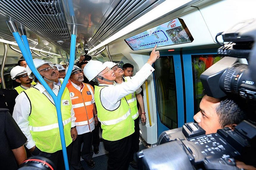 The first of Mr Najib's promised mega-projects has finally seen the light of day. The Klang Valley MRT runs through highly congested and densely populated suburbs in and around Kuala Lumpur. Each MRT train can carry up to 1,200 passengers and can run