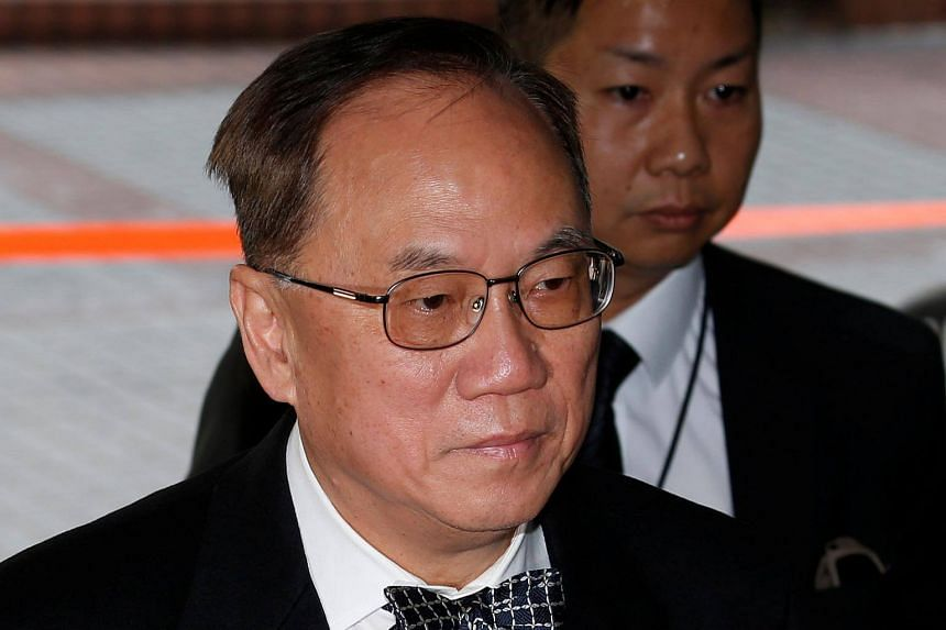 Former Hong Kong Chief Executive Donald Tsang arriving at the High Court to face trial on charges of misconduct in Hong Kong on Jan 3, 2017.