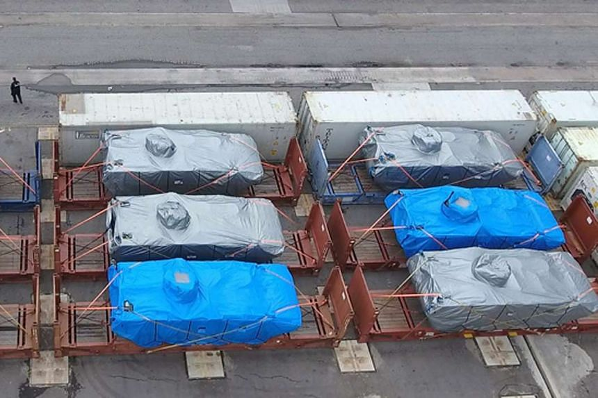 The SAF Terrex armoured vehicles that were detained in Hong Kong in November are still being held by the city's customs officials.