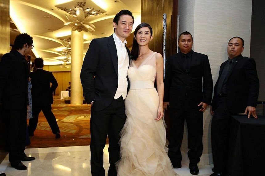 Actress Charlie Young and her Singaporean husband Khoo Shao Tze.
