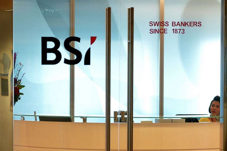 The front office of Swiss private bank BSI located at Suntec City.