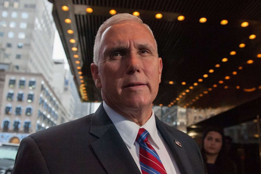 US Vice-President-elect Mike Pence arrives at Trump Tower in New York City, Jan 3, 2017.
