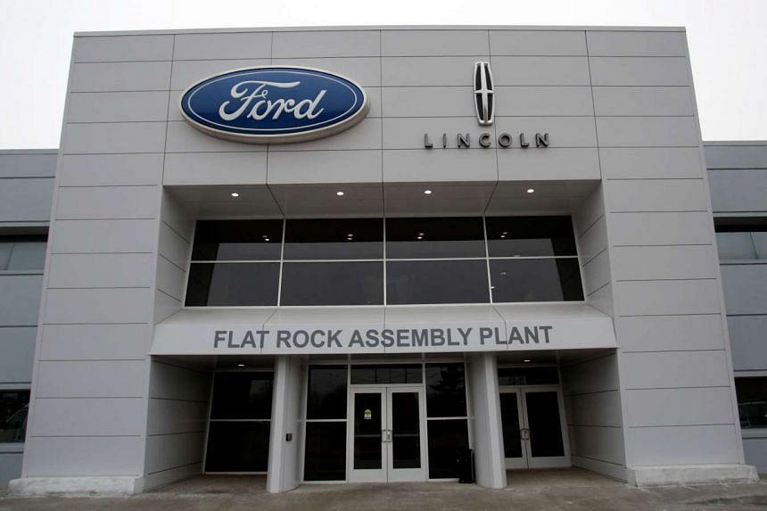 An entrance to the Ford Motor Co. Flat Rock Assembly Plant is seen in Flat Rock, Michigan, US on Jan 3, 2017.