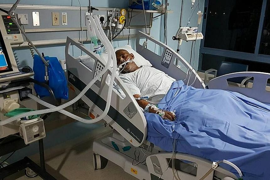 He is now warded in an intensive care unit in a Jordan hospital and is being supported by a ventilator.