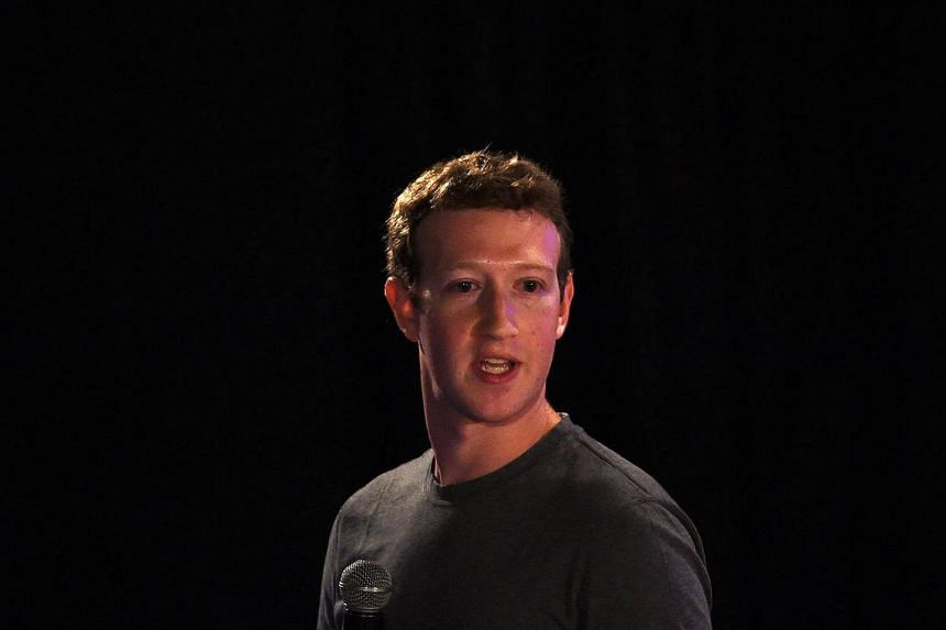 Facebook chief executive and founder Mark Zuckerberg speaking during a 'town-hall' meeting at the Indian Institute of Technology (IIT) in New Delhi.