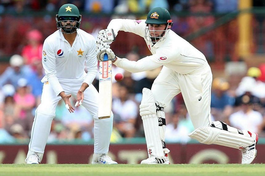 Matt Renshaw of Australia playing a shot during day one of the Third Test match between Australia and Pakistan on Jan 3, 2017.