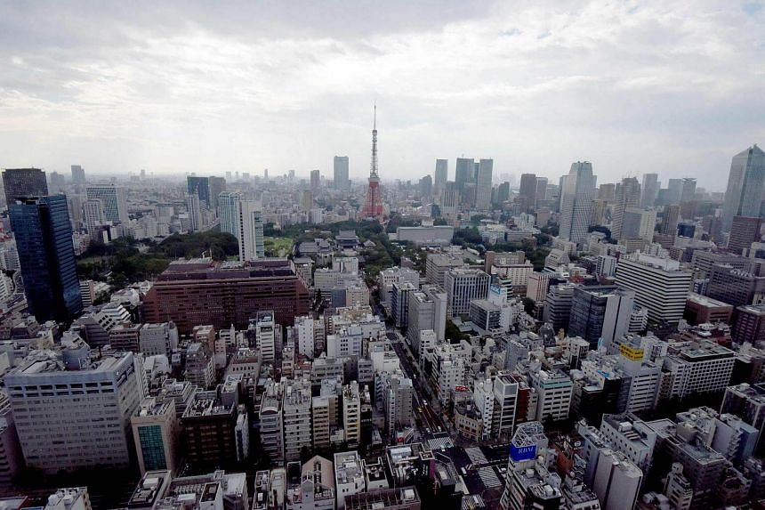 A general view of the Tokyo city centre.