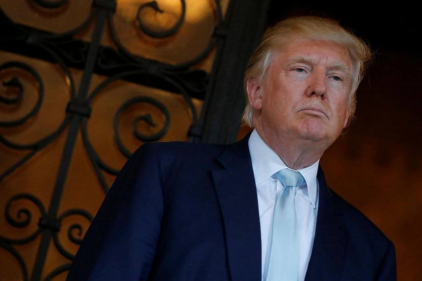 US President-elect Donald Trump delivered brief remarks to reporters at the Mar-a-lago Club in Palm Beach, Florida, US, on Dec 28, 2016.