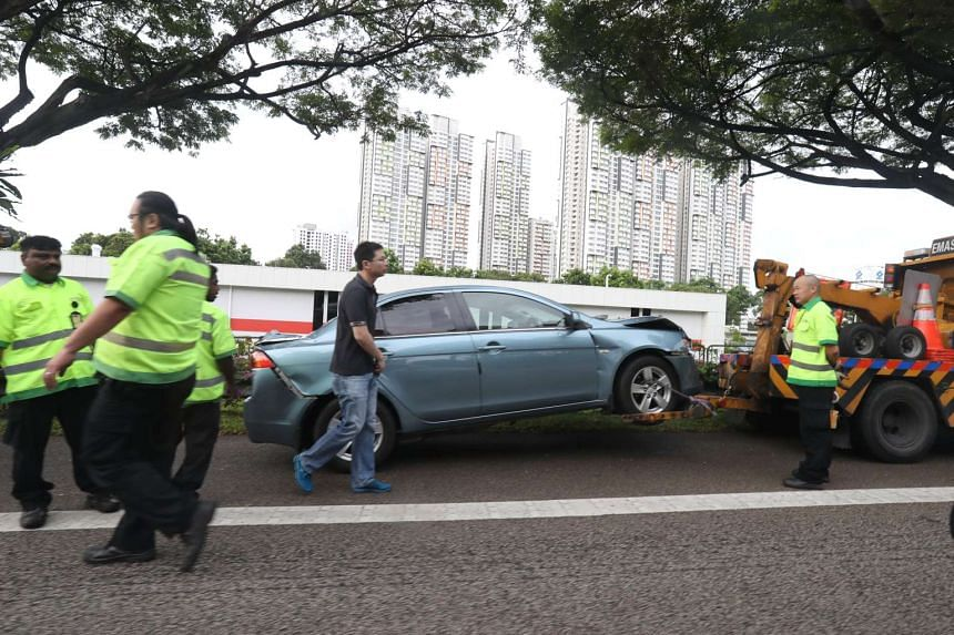 Eleven people were injured in a chain collision involving five vehicles on the Ayer Rajah Expressway on Jan 5, 2017.