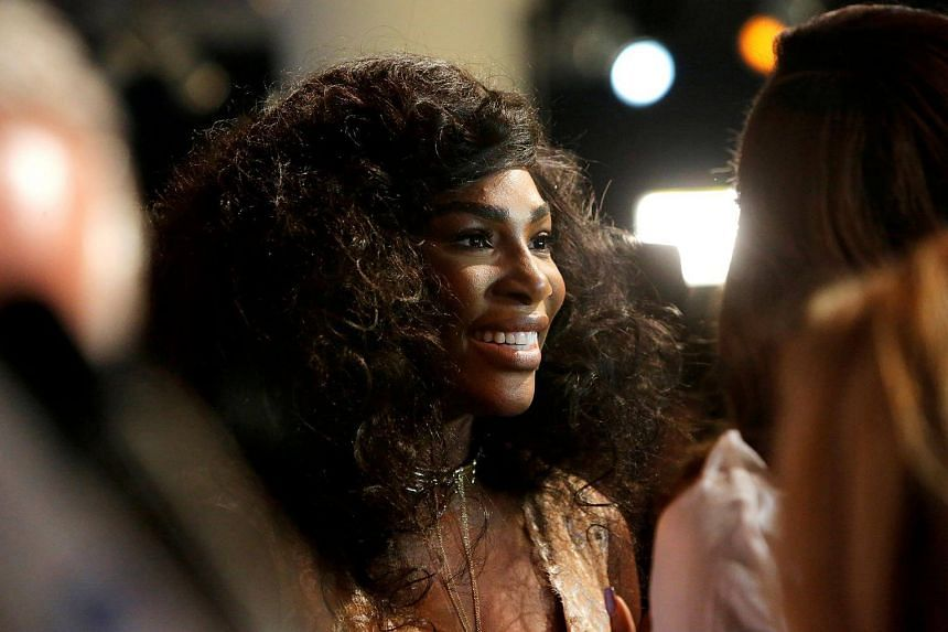 Tennis player Serena Williams speaks to the media as she arrives to present the Serena Williams Signature Statement Fall Collection at New York Fashion Week in Manhattan, New York on Sept 12, 2016.