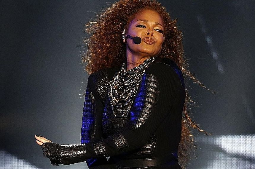 Singer Janet Jackson performing at the Dubai World Cup horse-racing event in March last year. She gave birth to son Eissa on Tuesday.